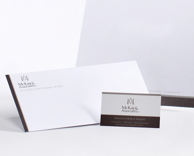 visiting card design sample. mckay business card and