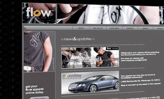 Flow Apparel Web Design
