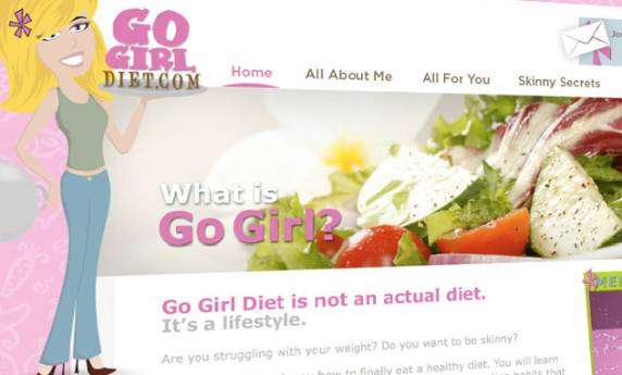 Go Girl Diet Web Design