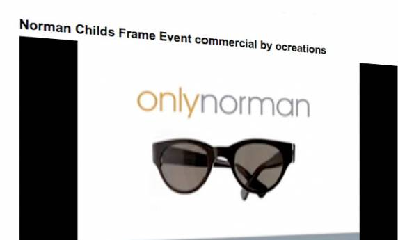 Norman Childs Frame Event Commercial