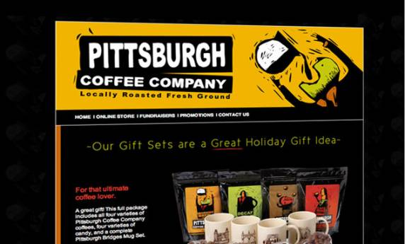 Pittsburgh Coffee Company Web Mail Template