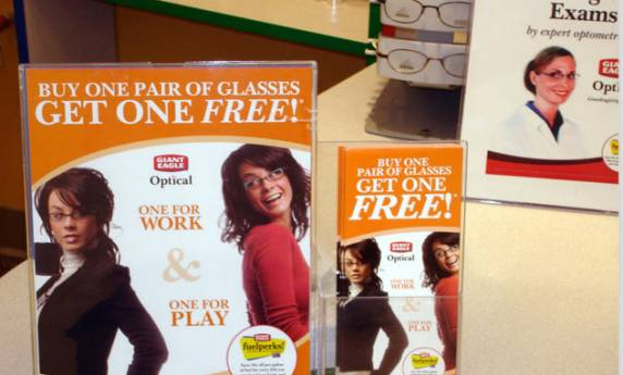 Giant Eagle Optical Eyecare Stand