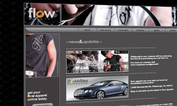 Hip Hop Flow Apparel Web Design