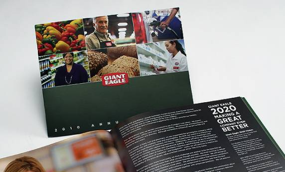 Giant eagle Annual Report Design