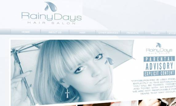 Rainy Days Hair Salon Web Design