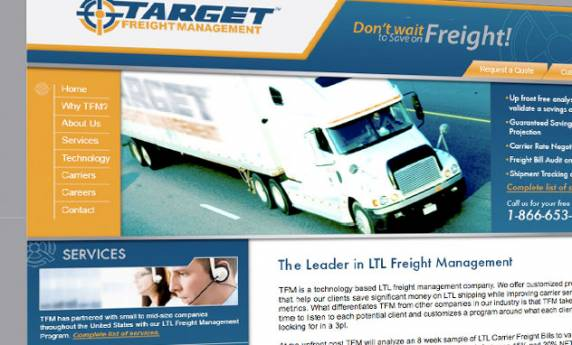 Target Freight Management Web Design