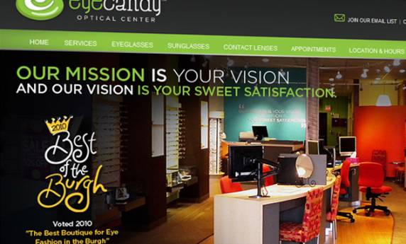 Eyecandy Optical Center Website