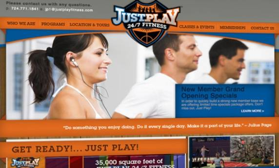 Just Play Fitness Website