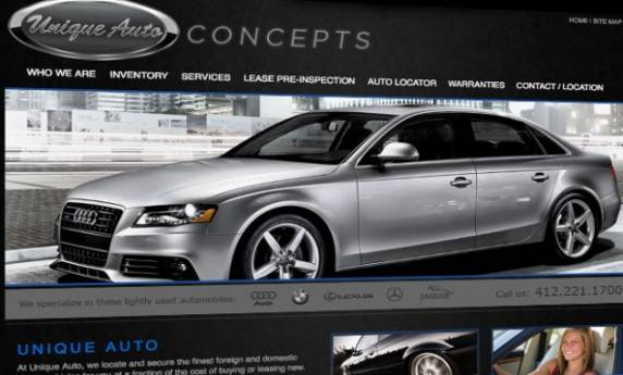 Unique Auto Concepts Website