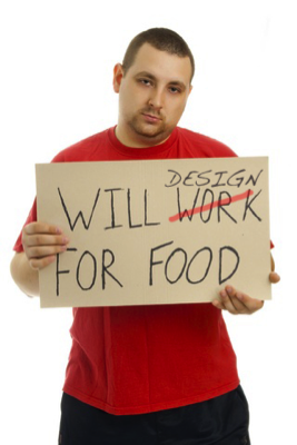 """WILL DESIGN FOR FOOD"" How do I find really good clients?"