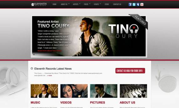 Eleventh Records Web Design