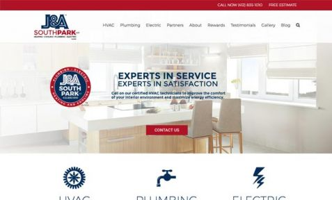 J&A HVAC South Park Website