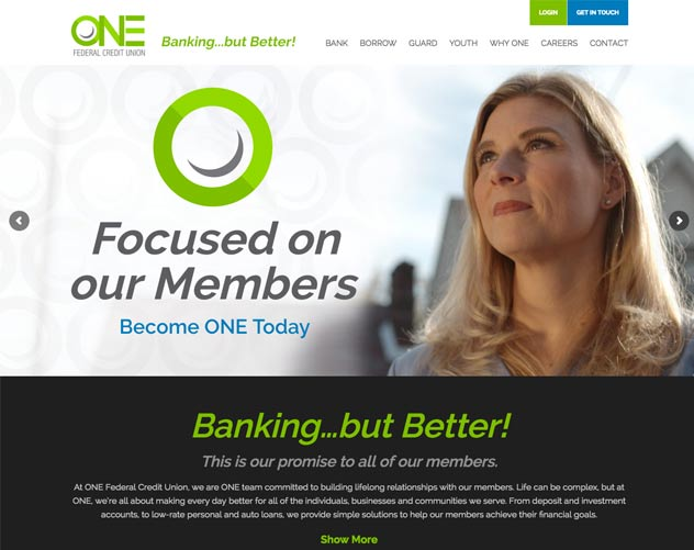 ONE Federal Credit Union Website