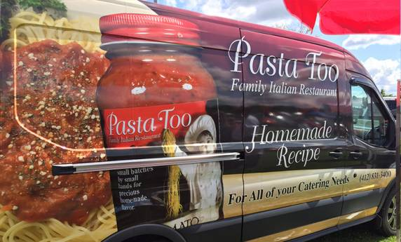 Pasta Too Van & Displays