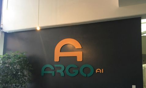 Argo AI Lobby Wall Sign