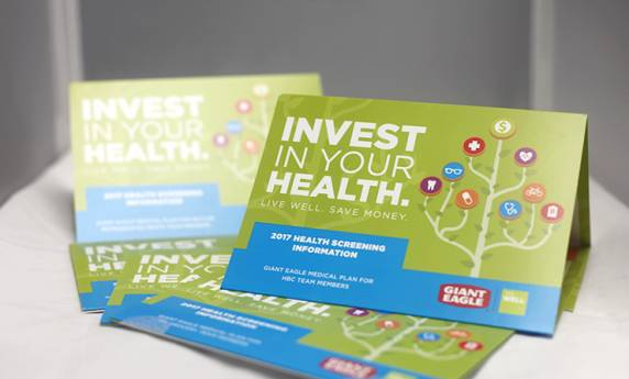 Giant Eagle Health Screening Postcard