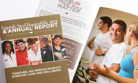 Publication Design Giant Eagle Annual Report