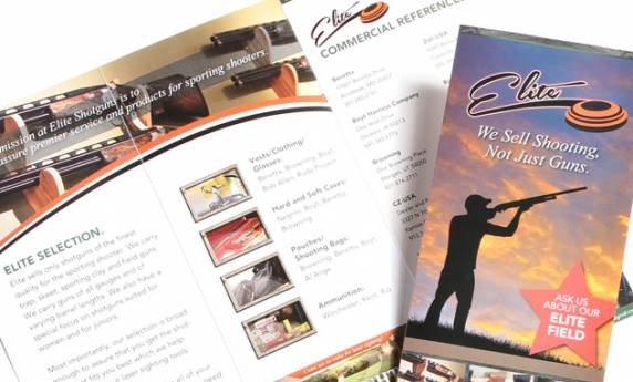 Print Design Elite Shotguns Brochure