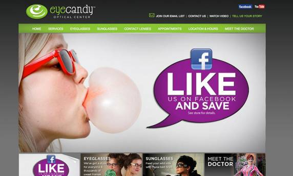Eye Candy Optical Website Design