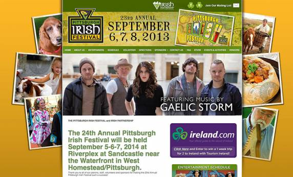 Pittsburgh Irish Festival Website Design