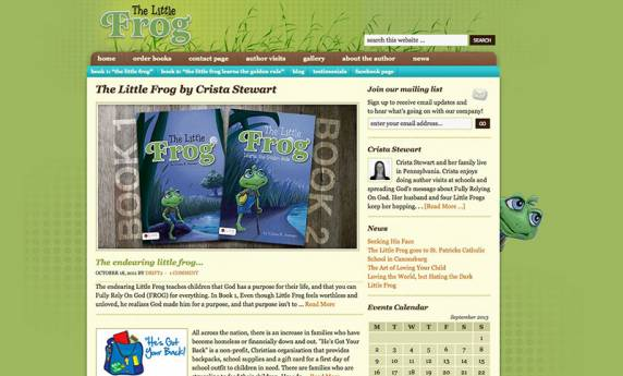 The Little Frog Website Design