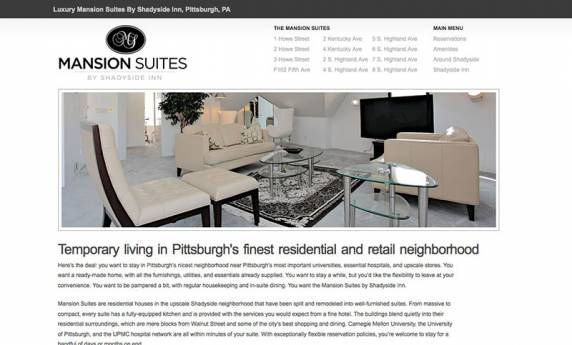Mansion Suites Website Design