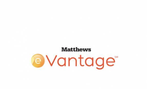 Matthews eVantage Logo Design