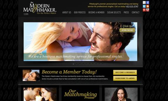 Modern Match Makers Website Design
