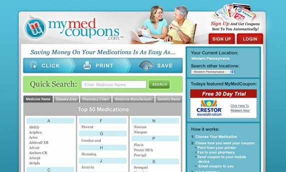 MyMedCoupons.com Website Design