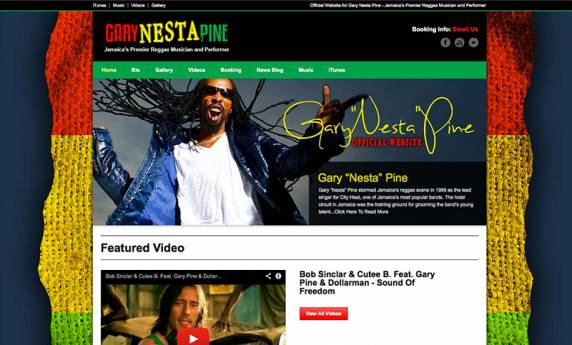 Gary Nesta Pine Website Design