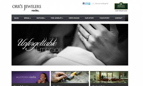 Orr's Jewelers Website Design