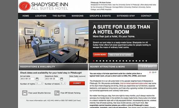 Shadyside INN Website Design