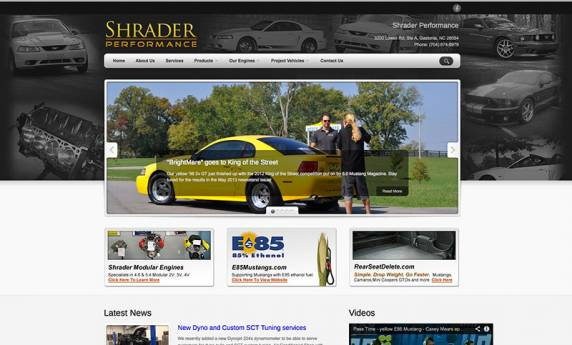 Shrader Performance Website Design