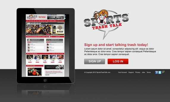Sports Trash Talk Website Design