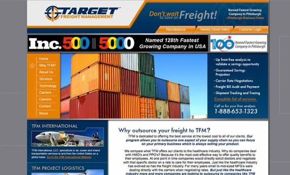 Target Freight Managment Website Design