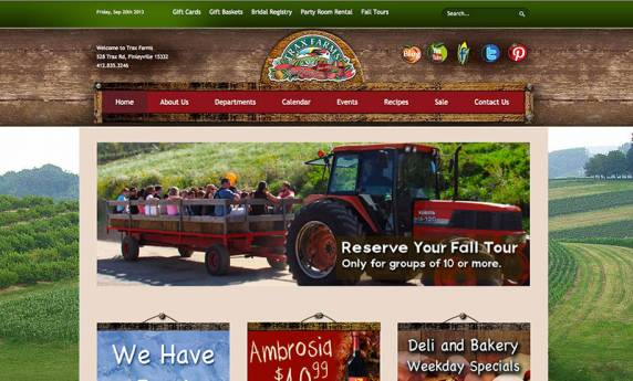 Trax Farms Website Design