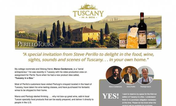 Tuscany in a Box Website Design