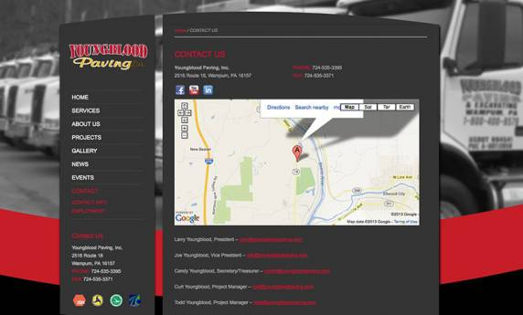 Youngblood Paving Website Design