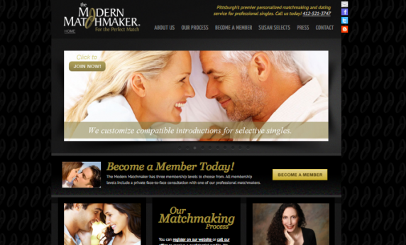Modern Matchmaker Website Design