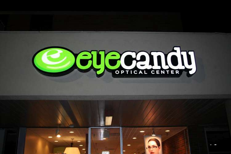 Eye Candy Optical Illuminated Exterior Sign Ocreations A