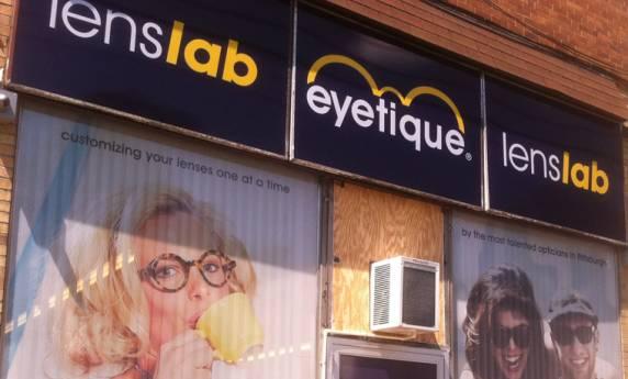 Eyetique Lenslab  Signage