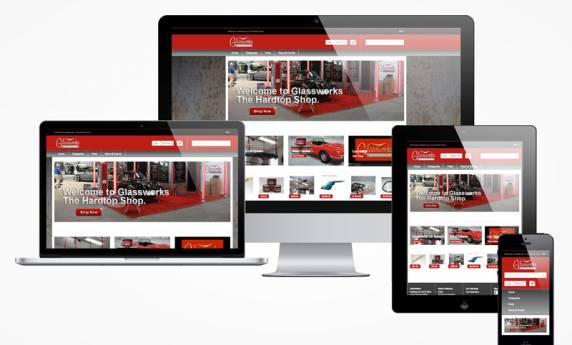 Glassworks – The Hard Top Shop – Ecommerce Site Design