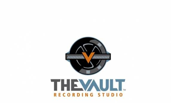 The Vault Recording Studio Logo Design