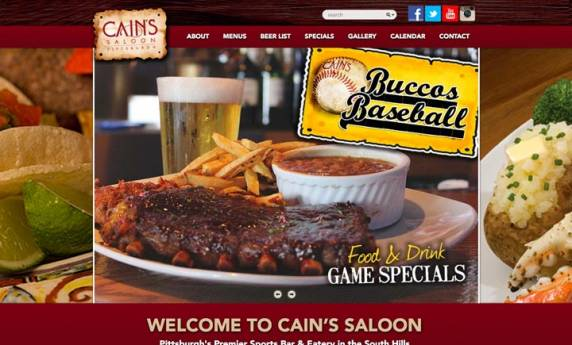 Cain's Saloon Website Design