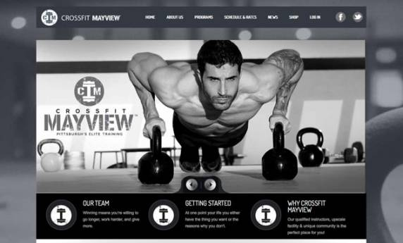 Crossfit Mayview Website Design