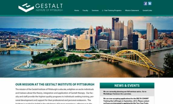 Gestalt Institute of Pittsburgh Website Design