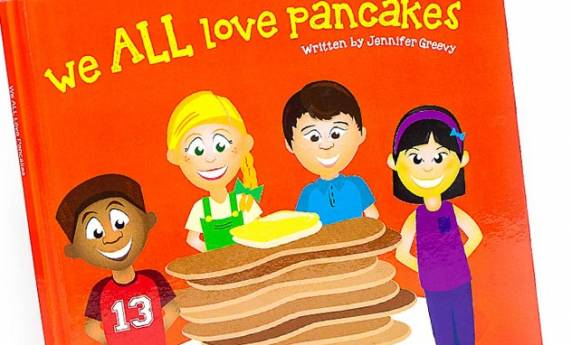 We All Love Pancakes Childrens Book Design & Illustration