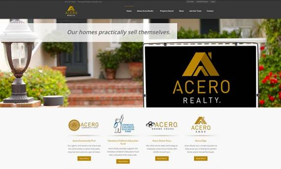 Acero Realty Website Design