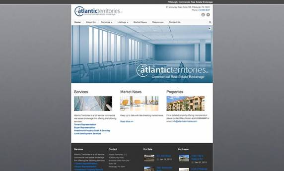 Atlantic Territories Website Design