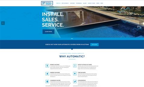 Automatic Pool Covers Complete Gallery Website Design